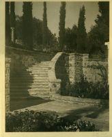 A.E Bell Gardens: stone staircase [color scan]
