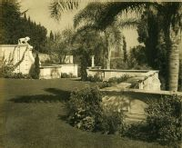 A.E Bell Gardens: terrace with boundary wall [color scan]